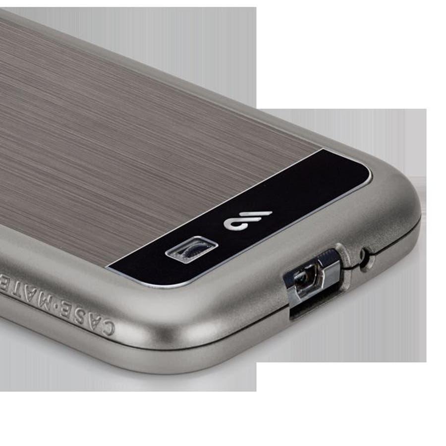 Galaxy S4 対応ケース Brushed Aluminum Case, Gunmetal / Black 1