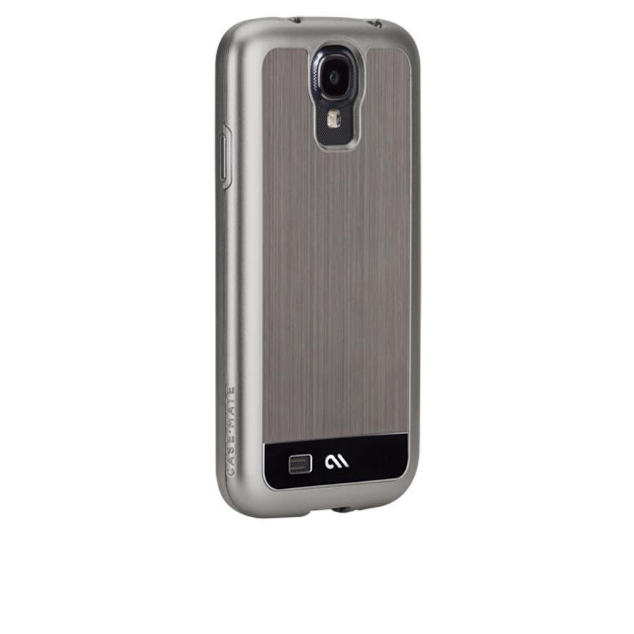 Galaxy S4 対応ケース Brushed Aluminum Case, Gunmetal / Black 2
