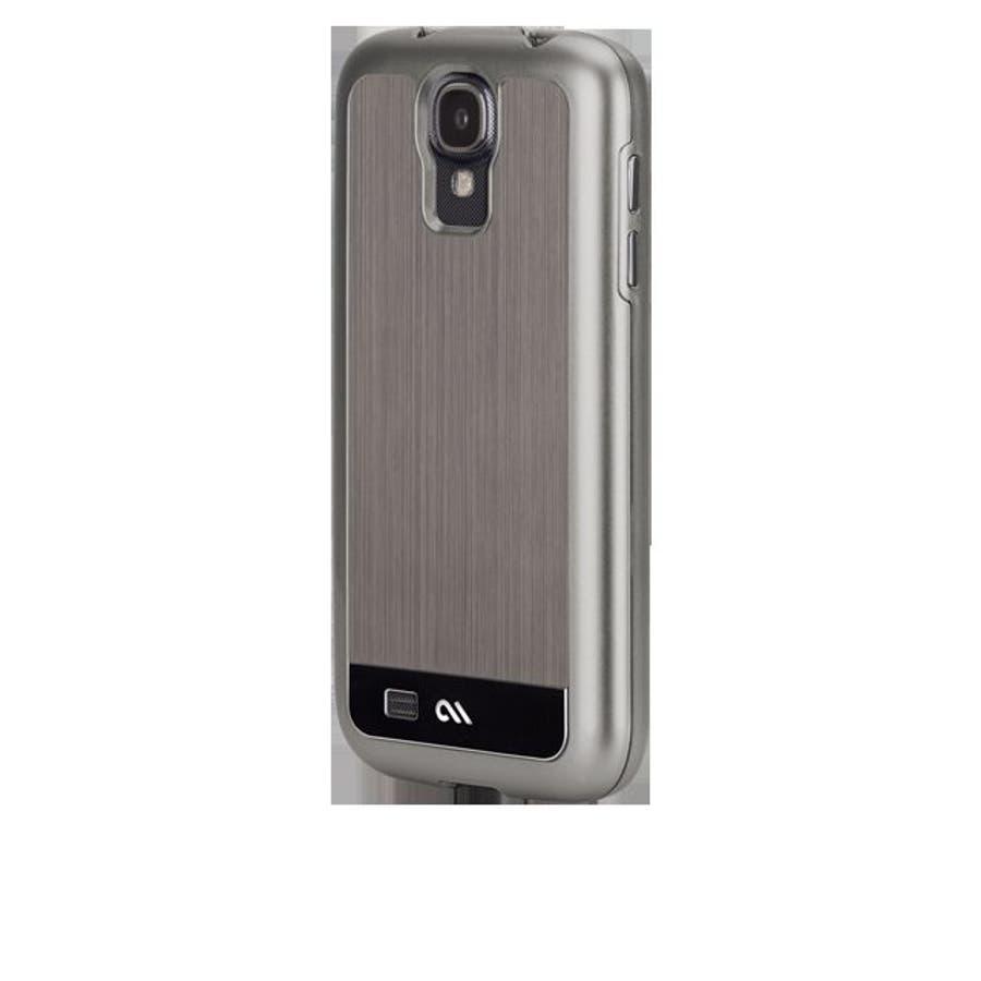 Galaxy S4 対応ケース Brushed Aluminum Case, Gunmetal / Black 4
