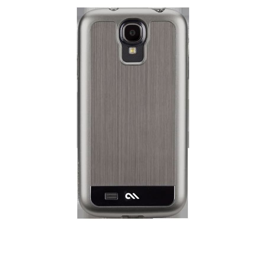 Galaxy S4 対応ケース Brushed Aluminum Case, Gunmetal / Black 7