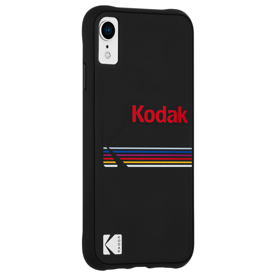【Case-Mate×Kodak コラボレーション】 iPhone XR Case Kodak Matte Black +ShinyBlack Logo 2