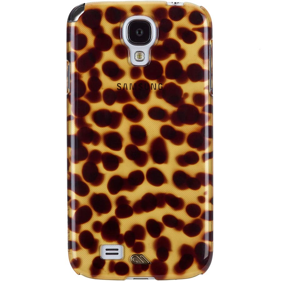 Galaxy S4 対応ケース Tortoise Shell Case, Brown 1