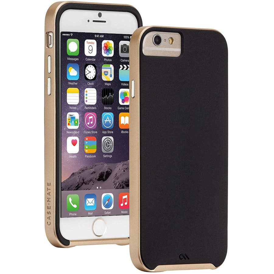 iPhone6s/6 対応ケース Slim Tough Case, Black / Gold 1