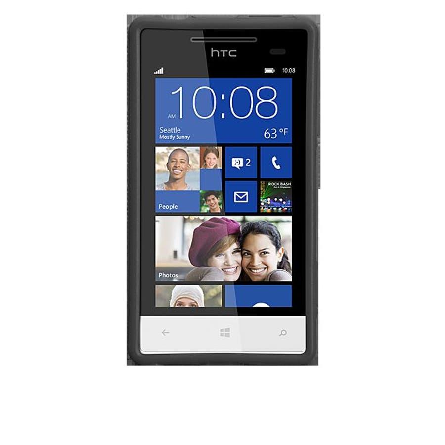 HTC 8S 対応ケースHybrid Tough Case, Black / Black 4
