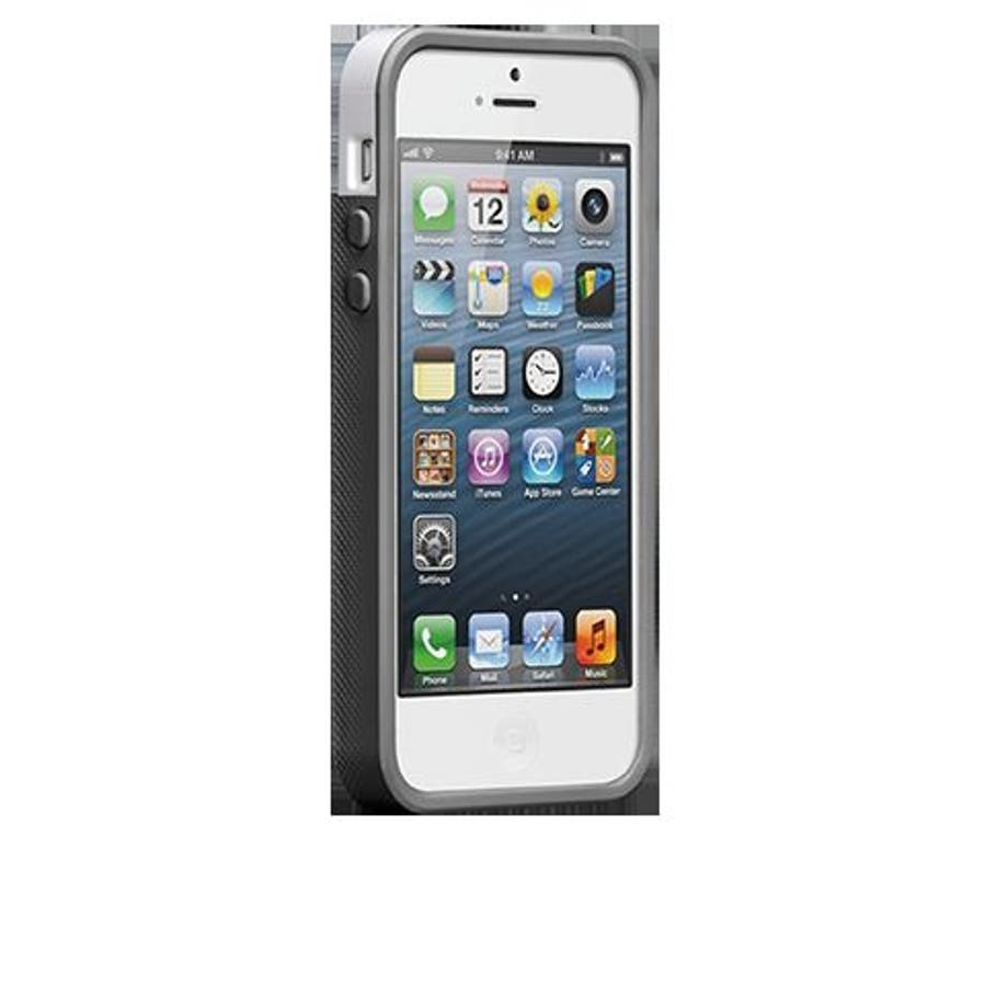 iPhone SE/5s/5 対応ケース POP! with Stand Case, White/ Titanium 2
