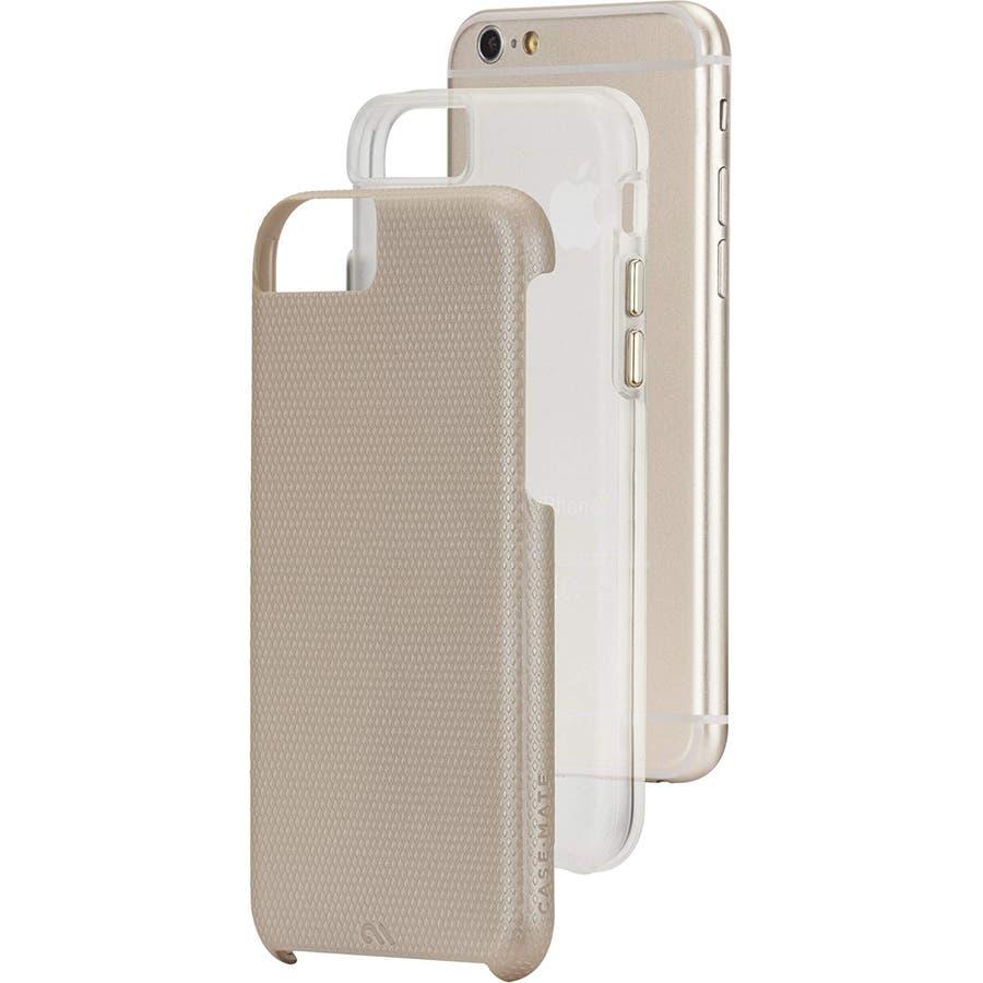 iPhone6s Plus/6 Plus 対応ケース Hybrid Tough Case, Gold / Clear 2