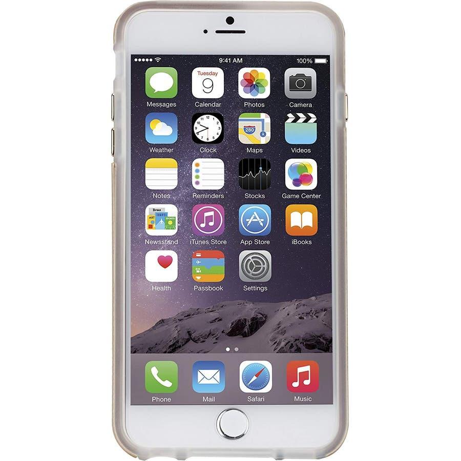 iPhone6s Plus/6 Plus 対応ケース Hybrid Tough Case, Gold / Clear 8