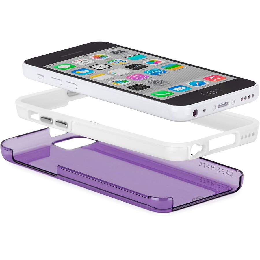 iPhone 5c 対応ケースHybrid Tough Naked Case, Clear Purple / White 1