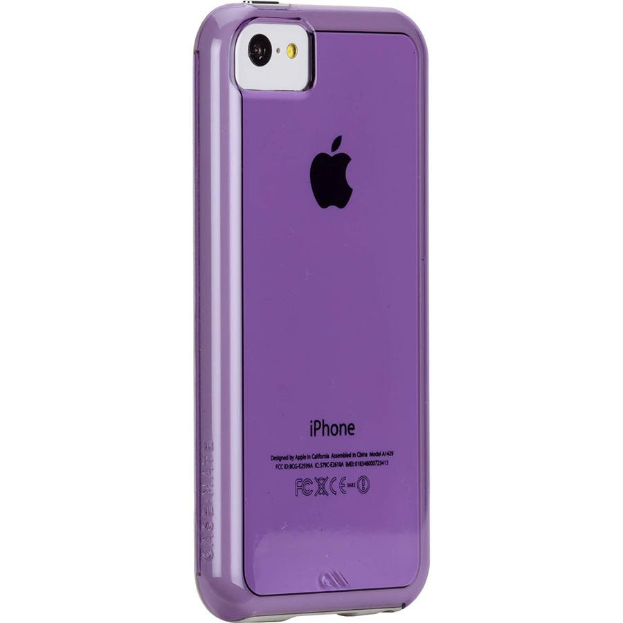 iPhone 5c 対応ケースHybrid Tough Naked Case, Clear Purple / White 2