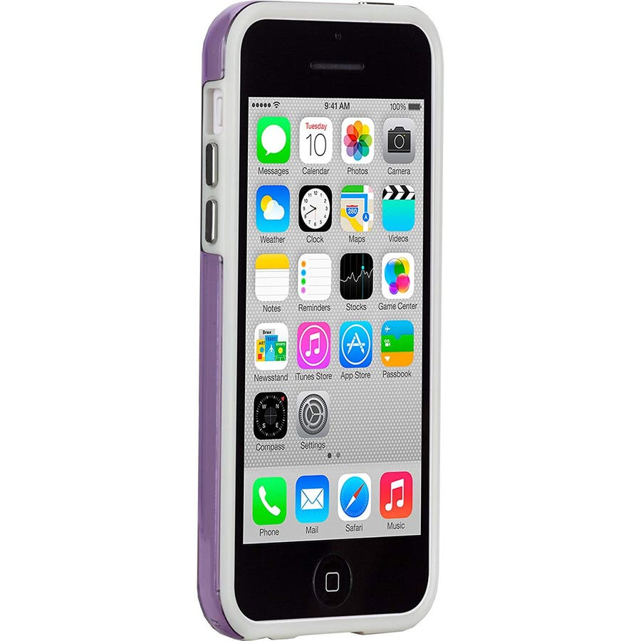 iPhone 5c 対応ケースHybrid Tough Naked Case, Clear Purple / White 3