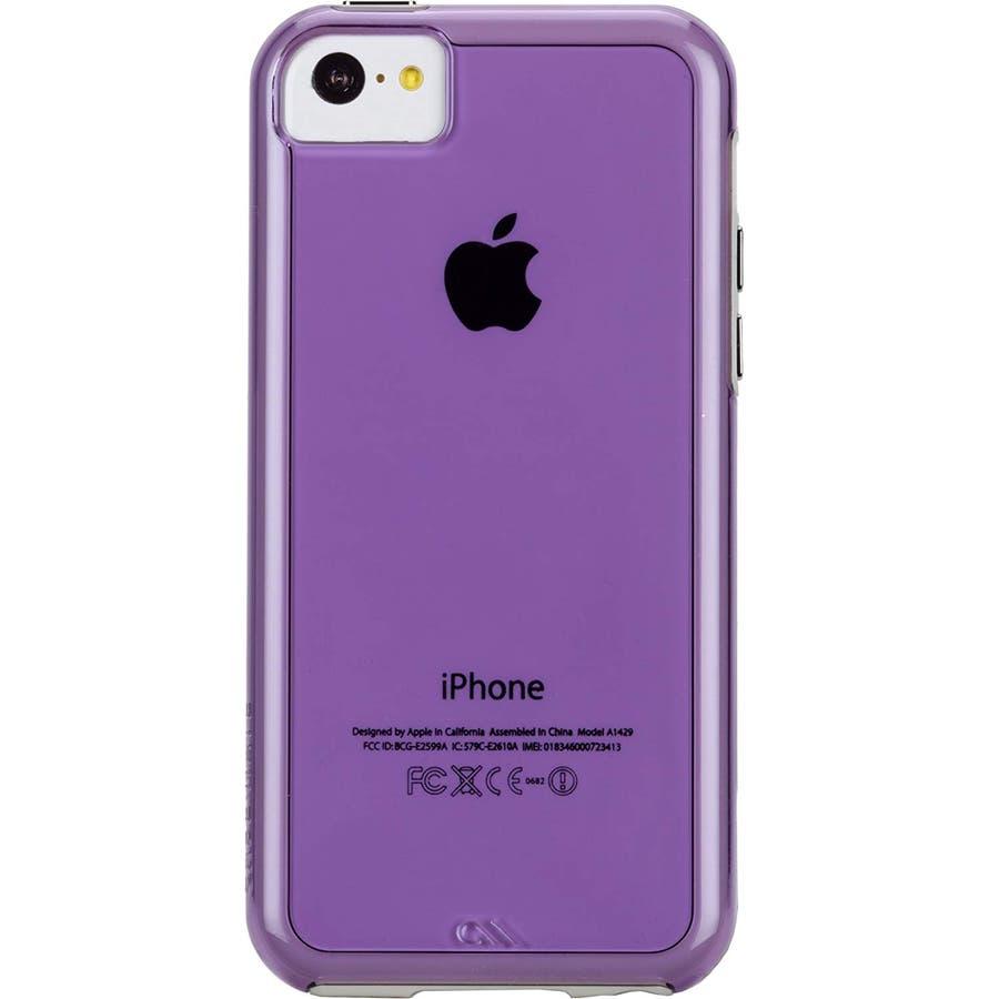 iPhone 5c 対応ケースHybrid Tough Naked Case, Clear Purple / White 4