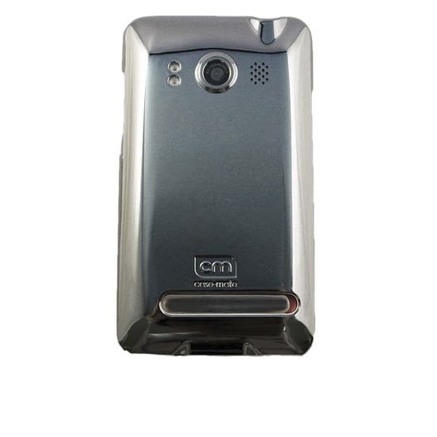 au HTC EVO WiMAX ISW11HT Barely There Case, Gloss Metallic Silver 1