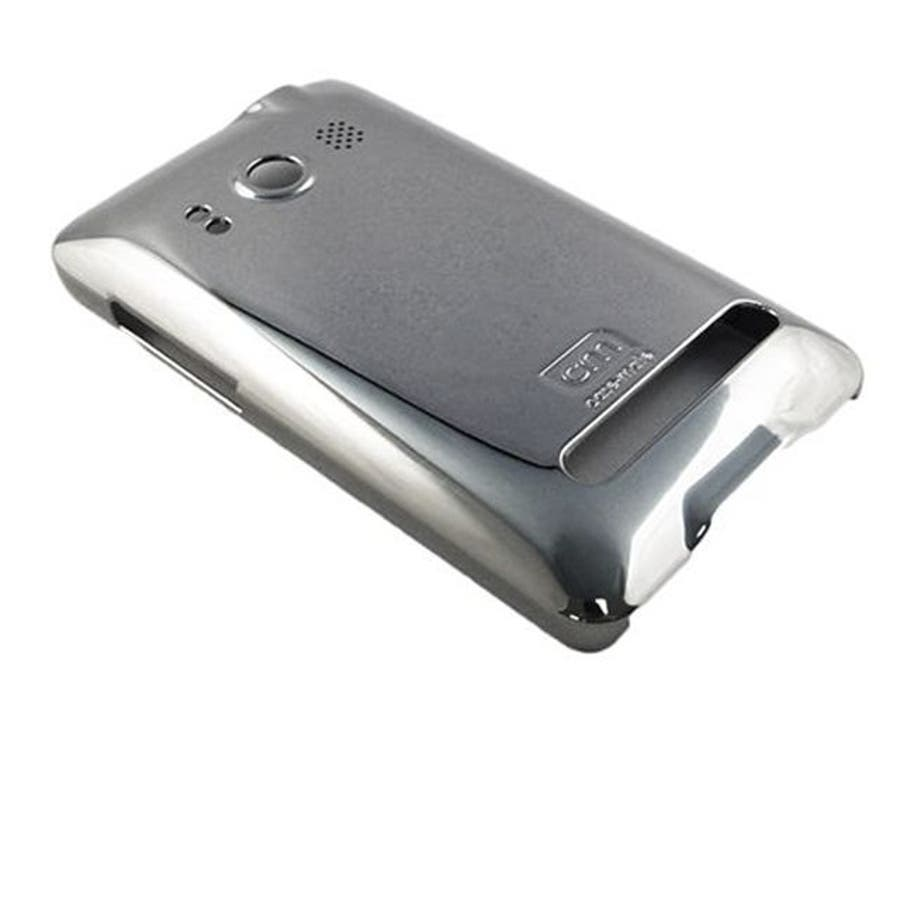au HTC EVO WiMAX ISW11HT Barely There Case, Gloss Metallic Silver 2