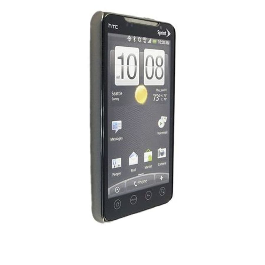 au HTC EVO WiMAX ISW11HT Barely There Case, Gloss Metallic Silver 3
