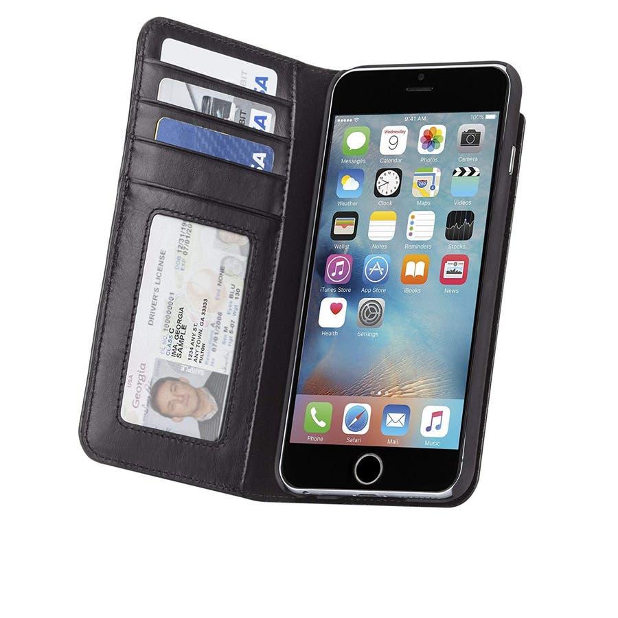 iPhone6s Plus/6 Plus 対応ケース Wallet Folio Case Black 5