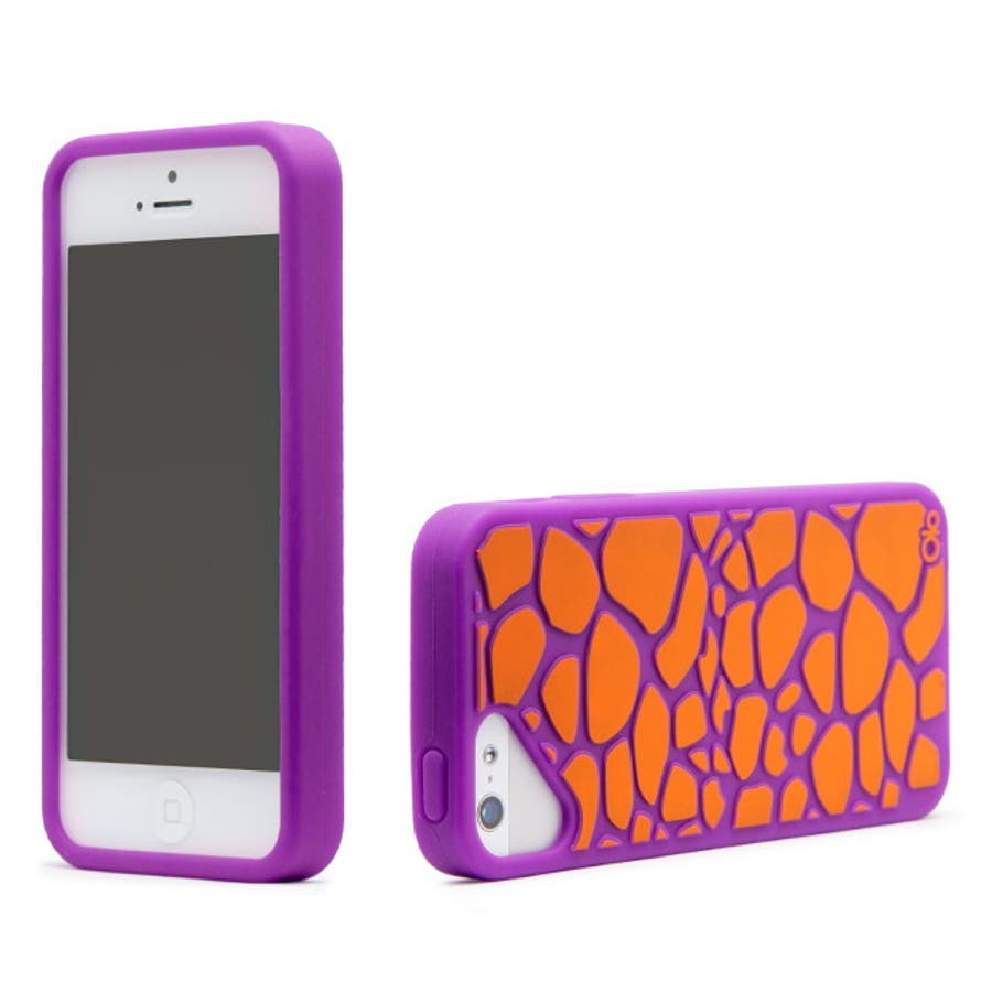 iPhone SE/5s/5 対応ケース Fashioned Case, Giraffe / Purple 3