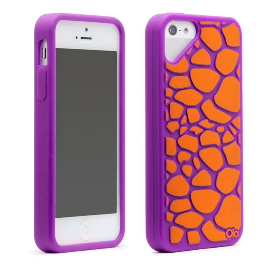iPhone SE/5s/5 対応ケース Fashioned Case, Giraffe / Purple 4