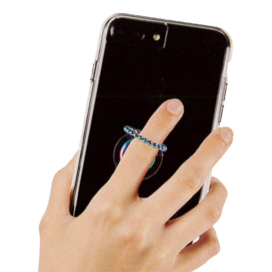 【スマホリング】Selfie Dotted Ring Iridescent 3