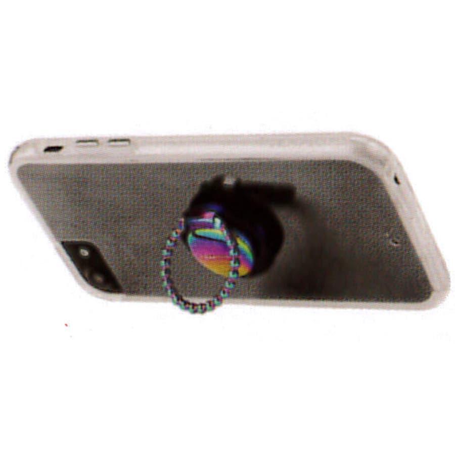 【スマホリング】Selfie Dotted Ring Iridescent 4