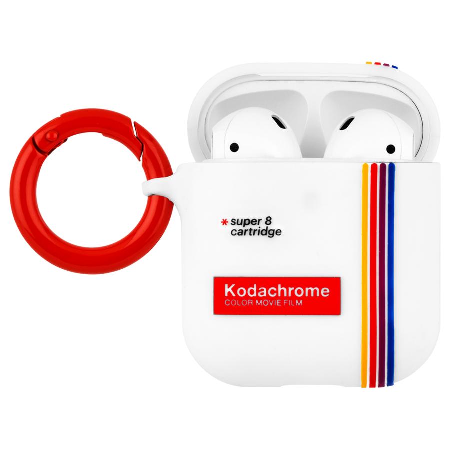 【Case-Mate×Kodak コラボ・AirPods全機種対応・ワイレス充電OK】 Kodak StripedKodachromeSuper 8 Print Case for AirPods 2