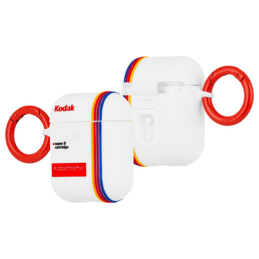 【Case-Mate×Kodak コラボ・AirPods全機種対応・ワイレス充電OK】 Kodak StripedKodachromeSuper 8 Print Case for AirPods 3