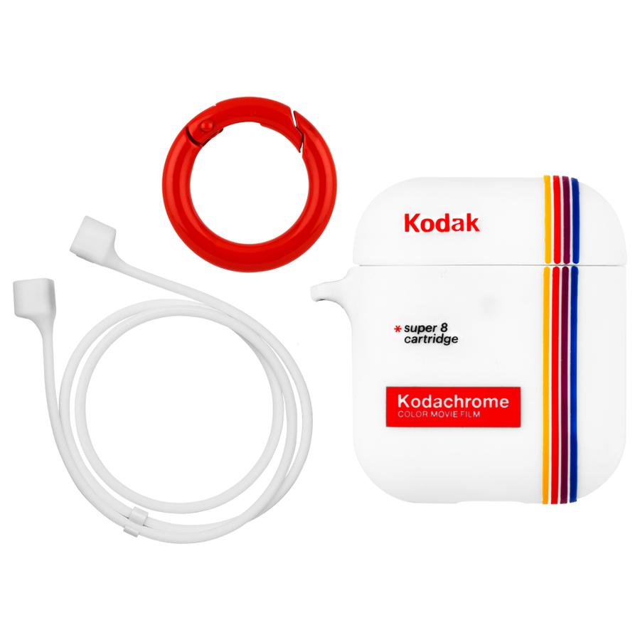 【Case-Mate×Kodak コラボ・AirPods全機種対応・ワイレス充電OK】 Kodak StripedKodachromeSuper 8 Print Case for AirPods 6