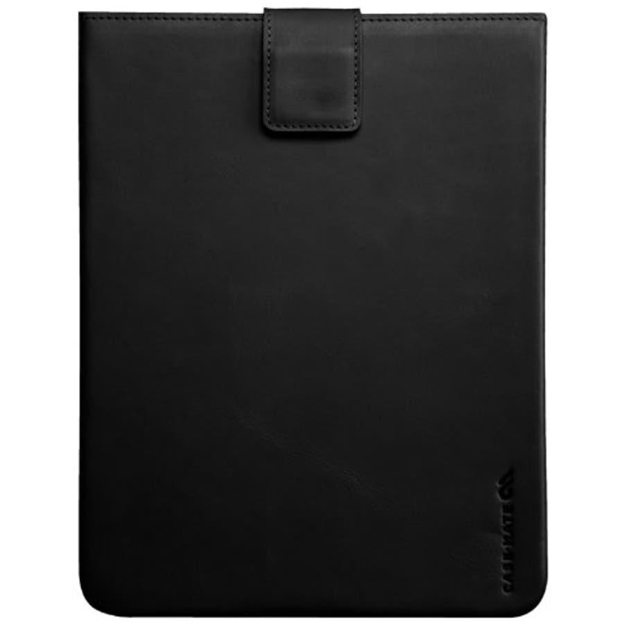 iPad 2〜4世代 対応ケース Leather Signature Sleeve Case, Black 1