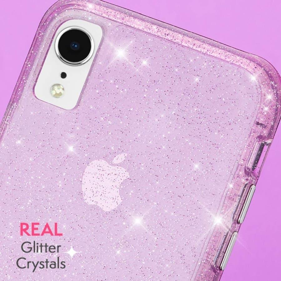 iPhoneXR対応ケース Sheer Crystal-Blush 1