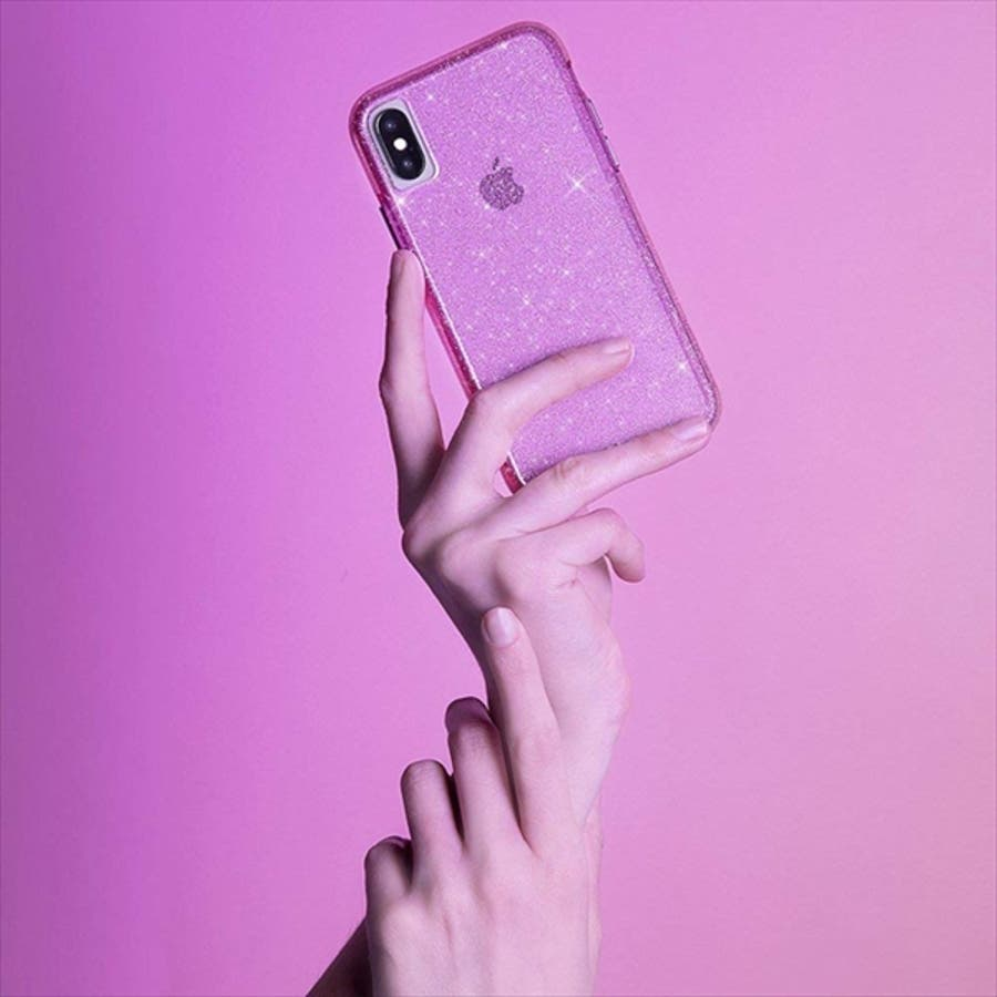 iPhoneXR対応ケース Sheer Crystal-Blush 3