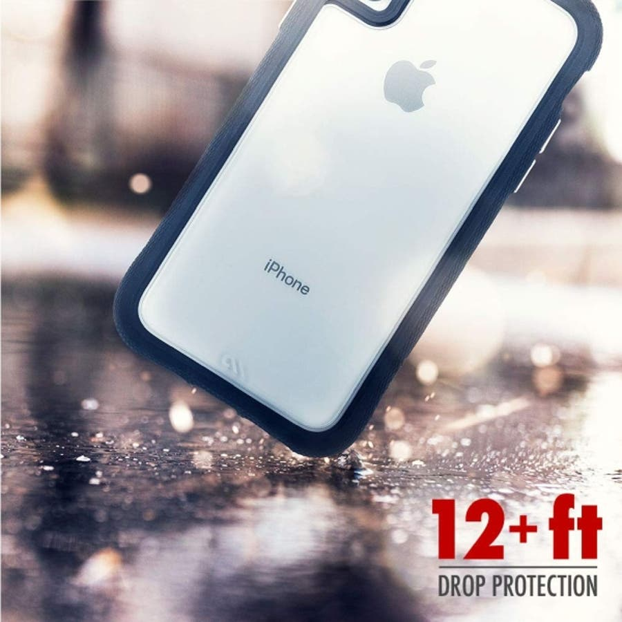 iPhoneXR対応ケース Protection Collection-Clear/Black 1