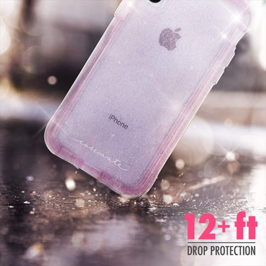 iPhoneXR対応ケース ProtectionCollection Sheer-Crystal-Blush 1