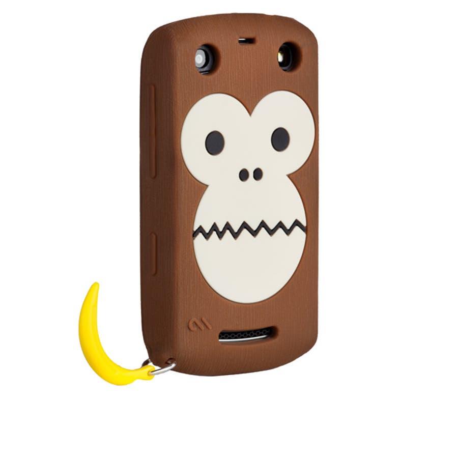 BlackBerry Curve 9350/9360/9370 対応ケース Bubbles Monkey Case, Brown 1