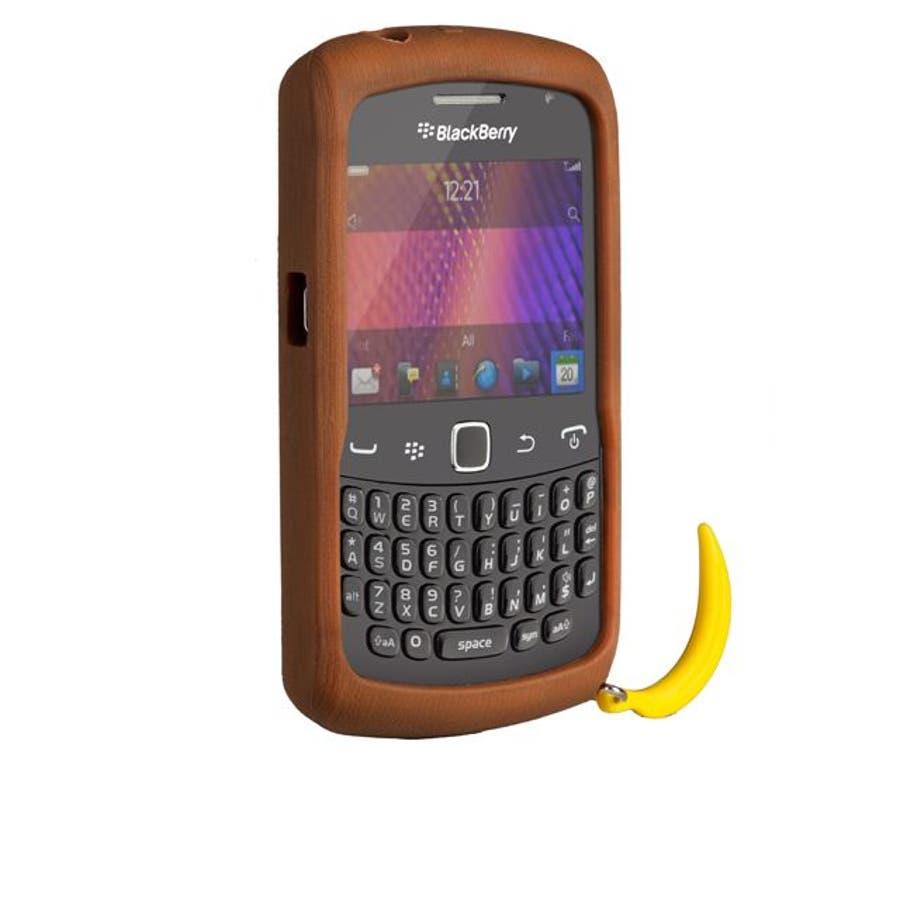 BlackBerry Curve 9350/9360/9370 対応ケース Bubbles Monkey Case, Brown 2