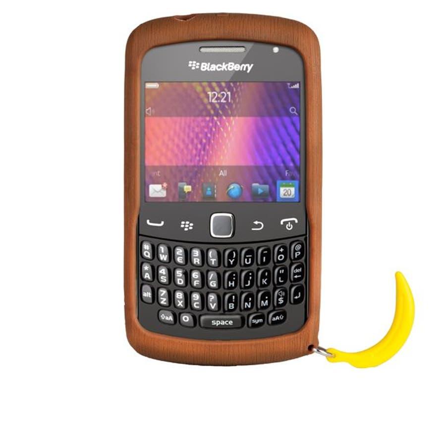 BlackBerry Curve 9350/9360/9370 対応ケース Bubbles Monkey Case, Brown 3