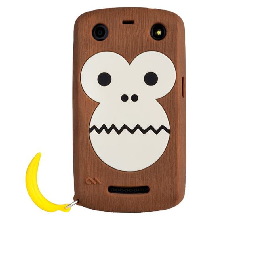 BlackBerry Curve 9350/9360/9370 対応ケース Bubbles Monkey Case, Brown 4