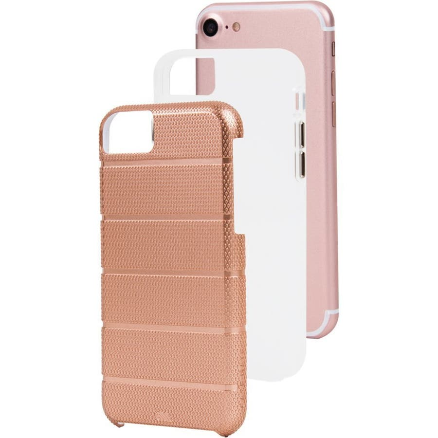 iPhone8 Plus 対応ケース Tough Mag Case -Rose Gold / Clear 1