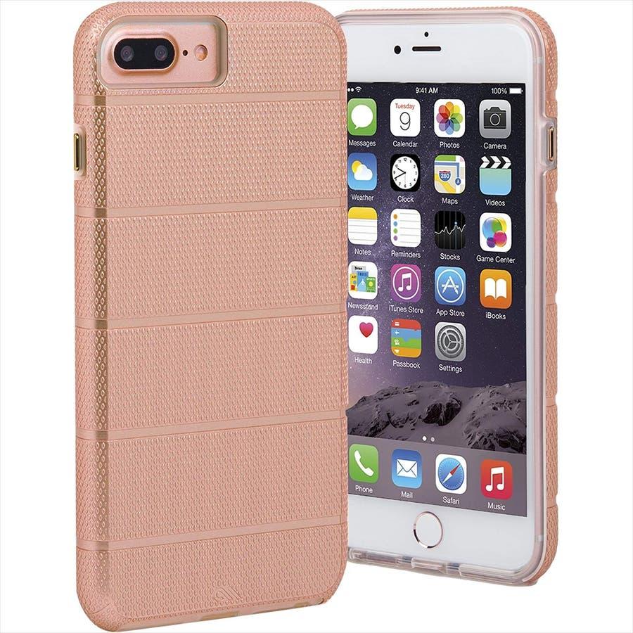 iPhone8 Plus 対応ケース Tough Mag Case -Rose Gold / Clear 2