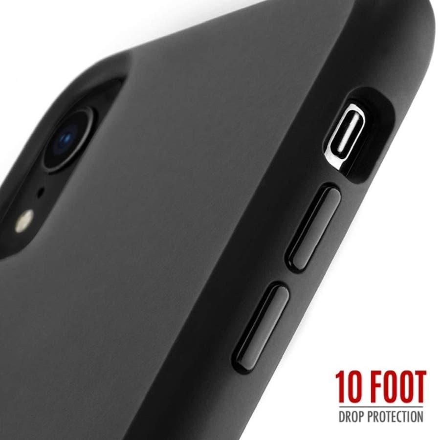 iPhoneXR対応ケース Tough-Matte Black 1