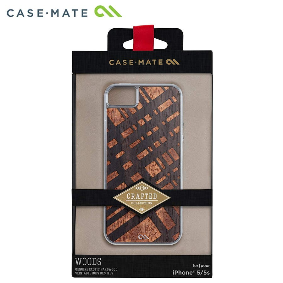 iPhone SE/5s/5 対応ケース Crafted Woods Case, Carved Mahogany 4