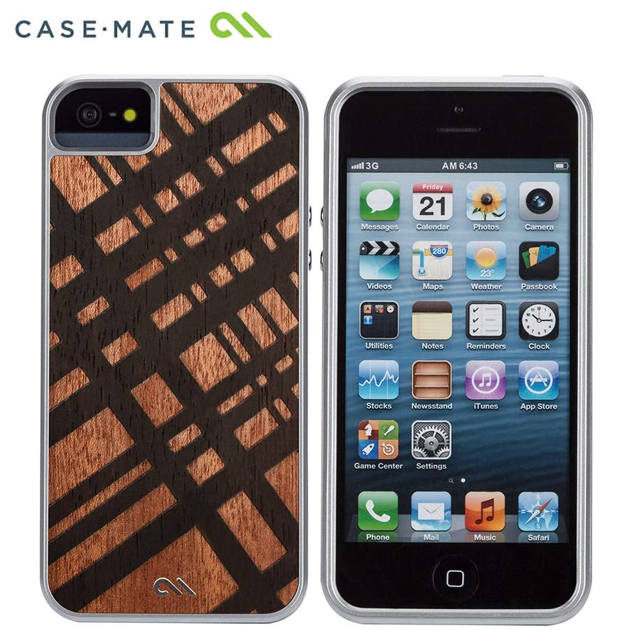 iPhone SE/5s/5 対応ケース Crafted Woods Case, Carved Mahogany 5