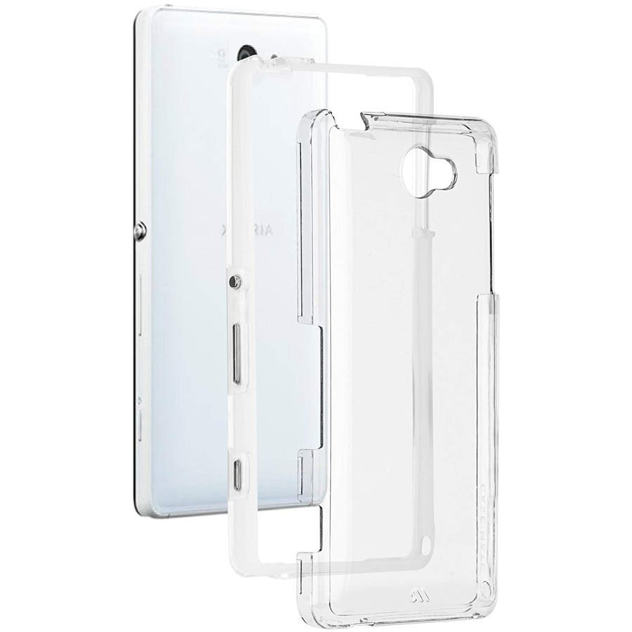 Sony Xperia 対応ケース Hybrid Tough Naked Case, Clear/Clear 1