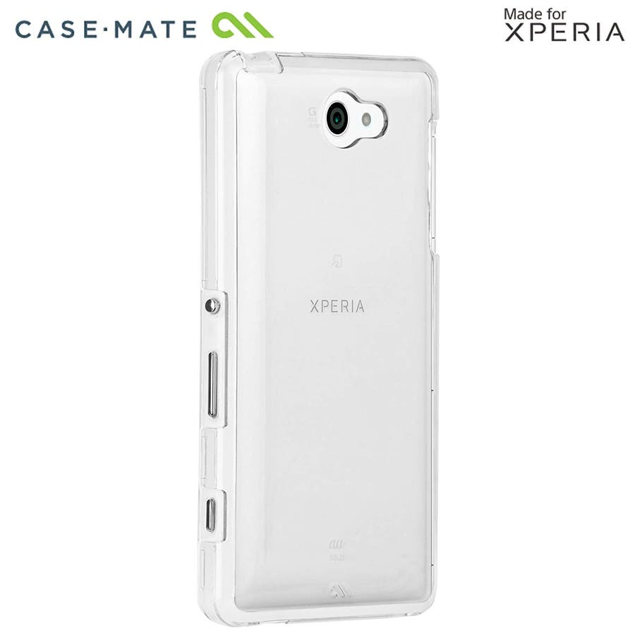 Sony Xperia 対応ケース Hybrid Tough Naked Case, Clear/Clear 2