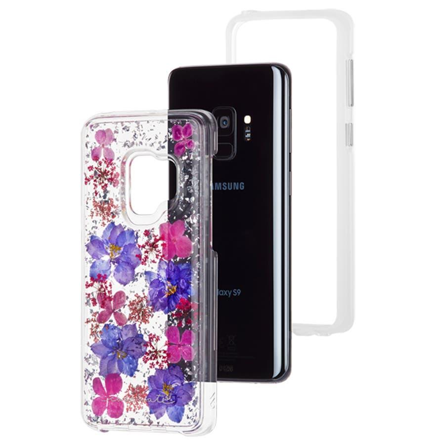 Galaxy S9 対応ケース Karat Petals - Purple 3