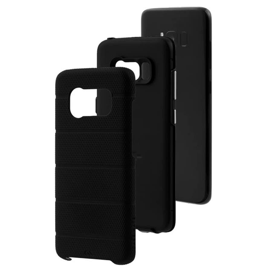Galaxy S8対応ケース Hybrid Tough Mag-Black 1