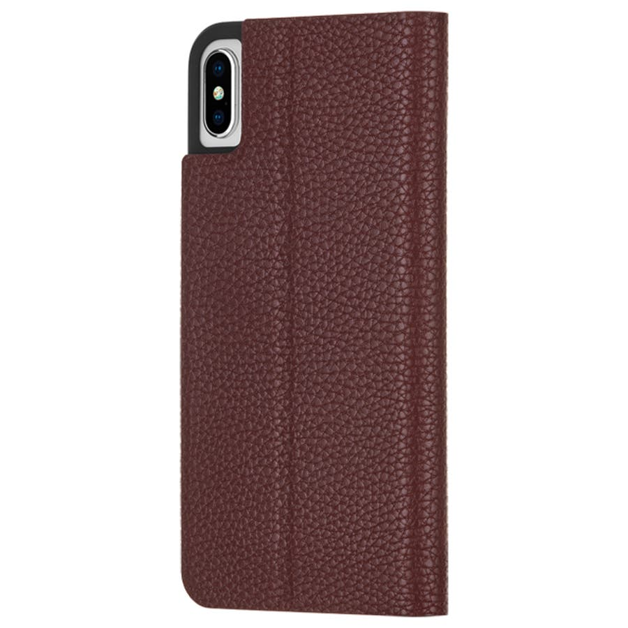 iPhoneXS Max対応ケース Barely There Folio-Brown 1