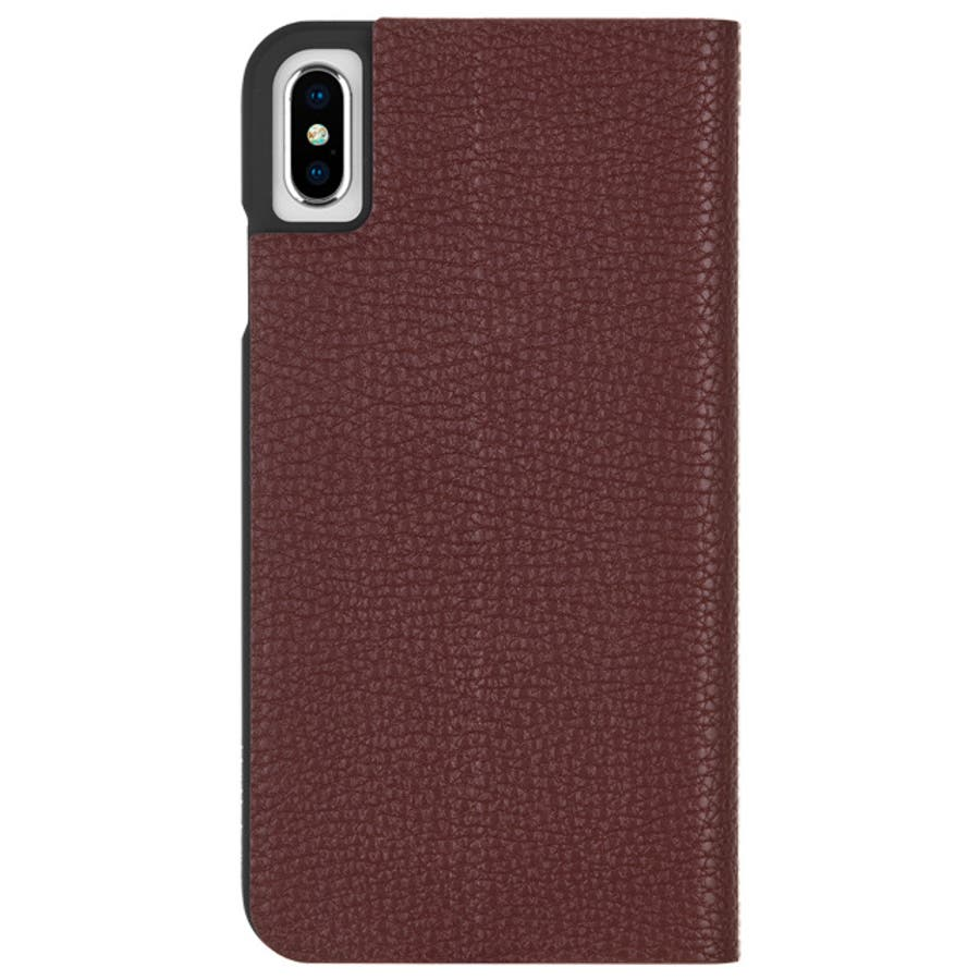 iPhoneXS Max対応ケース Barely There Folio-Brown 3