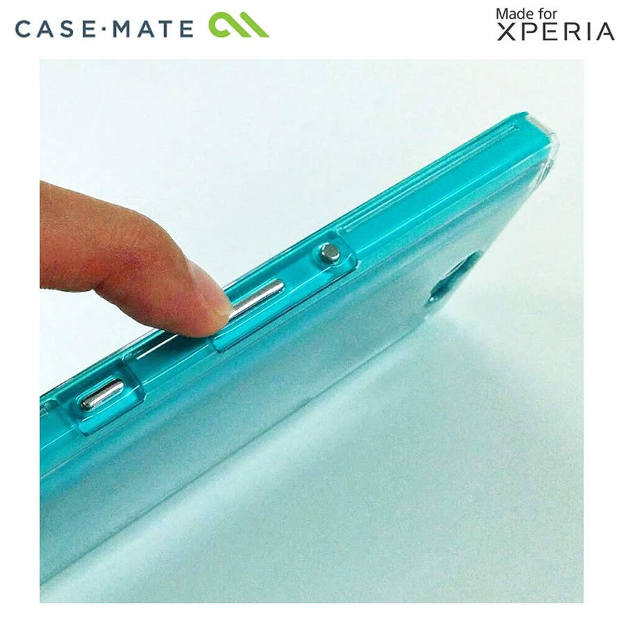 Sony Xperia ZL2 対応ケース Hybrid Tough Naked Case, Clear/Turquoise 5