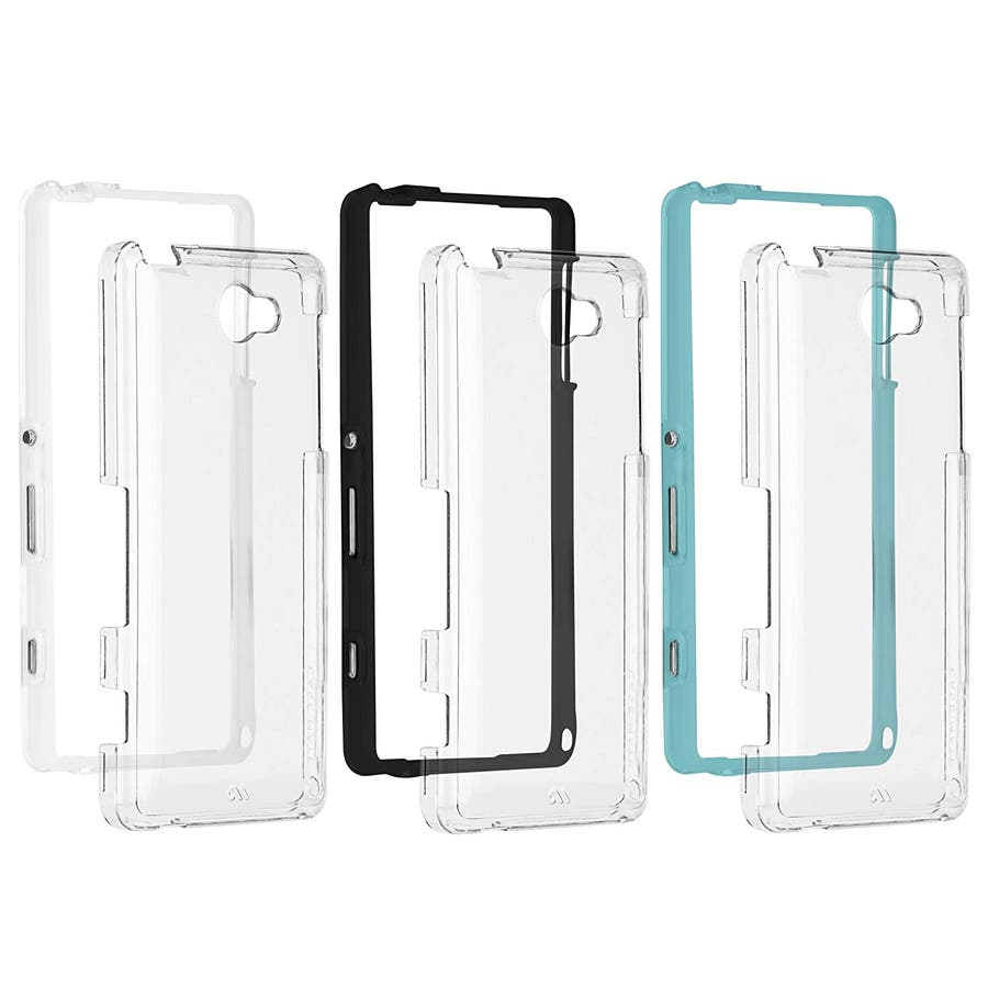 Sony Xperia ZL2 対応ケース Hybrid Tough Naked Case, Clear/Turquoise 8