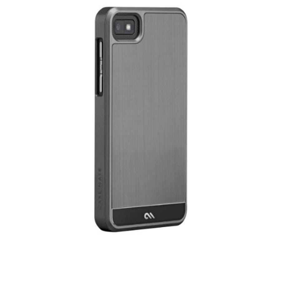 BlackBerry Z10 対応ケース FAUX Brushed Aluminum Effect Case, Silver 1