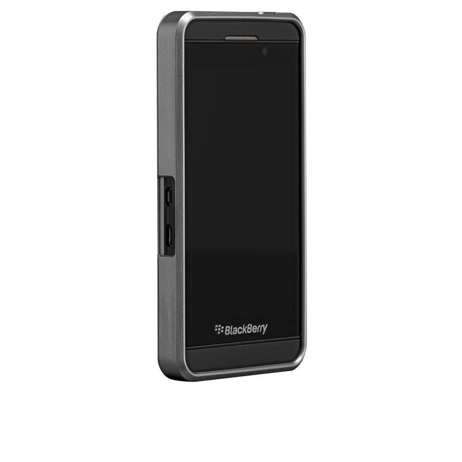 BlackBerry Z10 対応ケース FAUX Brushed Aluminum Effect Case, Silver 2